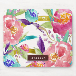 Garden Watercolor Personalized Mouse Pad