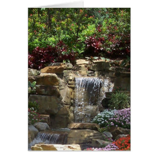 Garden Waterfalls Card