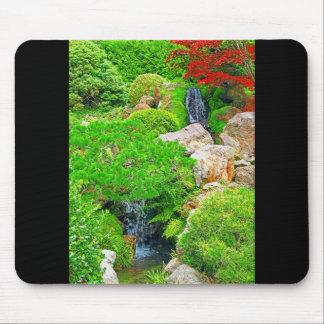 Garden Waterfalls photo painting mousepad