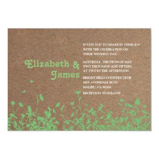 "Garden Wedding Invitations 5"" X 7"" Invitation Card"