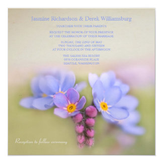 Garden Wedding Invitations with Forget Me Nots