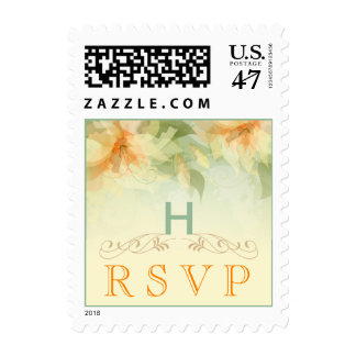 Garden Wedding RSVP Postage - Yellow Floral