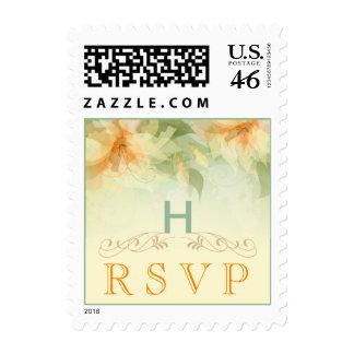Garden Wedding RSVP Postage - Yellow Floral