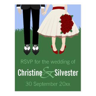 Garden Wedding, RSVP Postcards