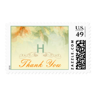 Garden Wedding Thank You Postage - Yellow Floral
