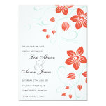 Garden Weddings - Orange and Blue save the dates Invitations