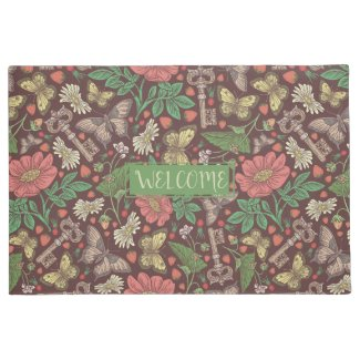 Garden Whimsy Personalized Welcome Mat