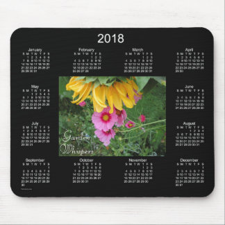 Garden Whispers 2018 Calendar Mouse Pad