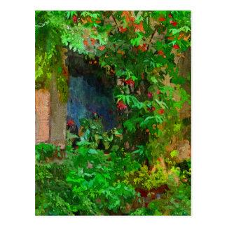 Garden Window Postcard