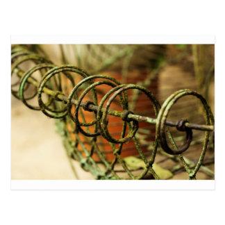 Garden Wire Basket Postcard