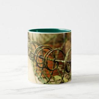 Garden Wire Basket Two-Tone Coffee Mug