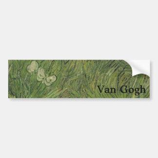 Garden with Butterflies by Vincent Van Gogh Car Bumper Sticker