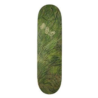 Garden with Butterflies by Vincent Van Gogh Skateboard