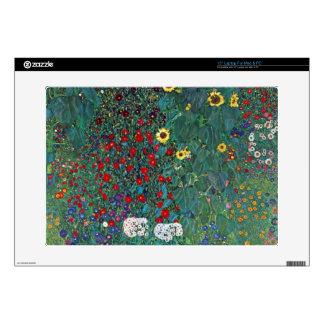 """Garden with Crucifix 2 by Gustav Klimt 15"""" Laptop Decals"""