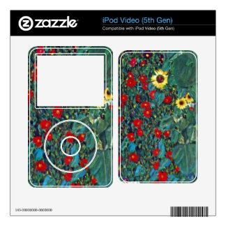 Garden with Crucifix 2 by Gustav Klimt Skins For iPod Video