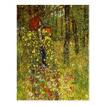 Garden with crucifix by Gustav Klimt Postcards