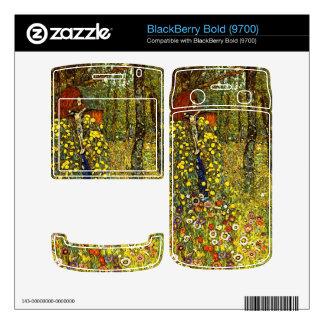 Garden with crucifix by Gustav Klimt BlackBerry Skins