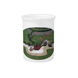 Garden with Dolphins Drink Pitcher