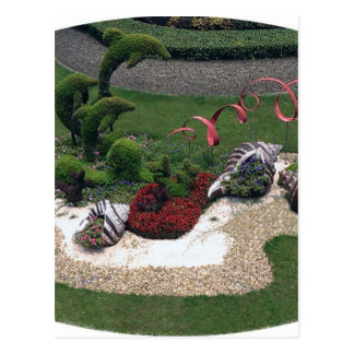 Garden with Dolphins Postcard