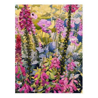 Garden with Foxgloves Postcard