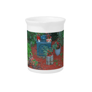 """""""Garden with Iron Stove"""" Drink Pitcher"""
