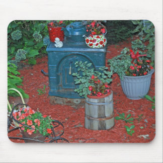 """Garden with Iron Stove"" Mouse Pad"