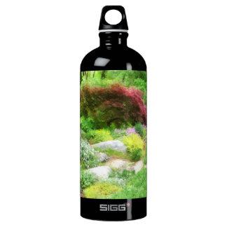 Garden With Japanese Maple Aluminum Water Bottle