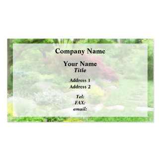 Garden With Japanese Maple Double-Sided Standard Business Cards (Pack Of 100)