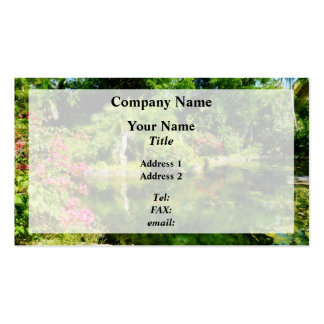 Garden With Statue Freeport Bahamas Business Card