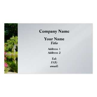 Garden With Statue Freeport Bahamas - Platinum Business Card