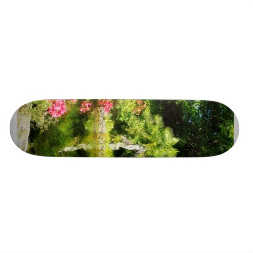 Garden With Statue Freeport Bahamas Skateboard Deck
