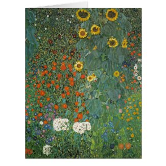 Garden with Sunflowers 1907 Large Greeting Card