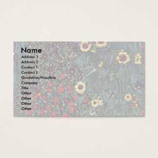 Garden With Sunflowers In The Countryside Business Card