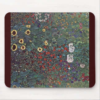 Garden With Sunflowers In The Countryside Mouse Pad