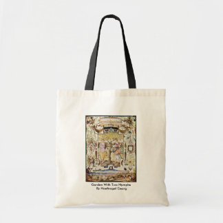 Garden With Two Nymphs By Hoefnagel Georg Tote Bags