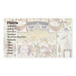 Garden With Two Nymphs By Hoefnagel Georg Business Card