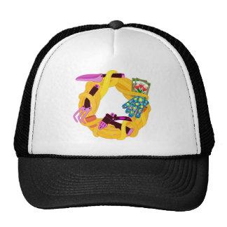 Garden wreath trucker hat