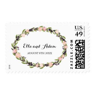 Garden Wreath Invitation Stamp