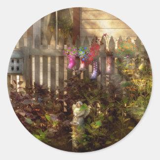 Garden - Zoar, OH - Ready for rain Classic Round Sticker