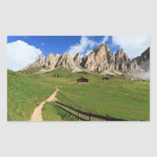 Gardena pass - Cir Dolomites Rectangular Sticker