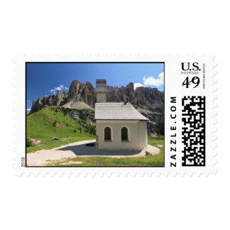 Gardena pass - small church stamp