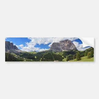 Gardena valley and Sassolungo mount Car Bumper Sticker