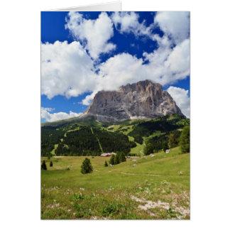 Gardena valley and Sassolungo mount Greeting Card