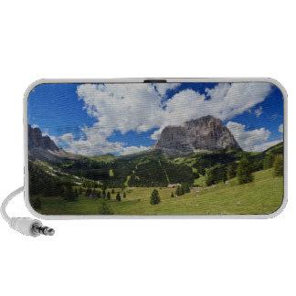 Gardena valley and Sassolungo mount iPod Speakers