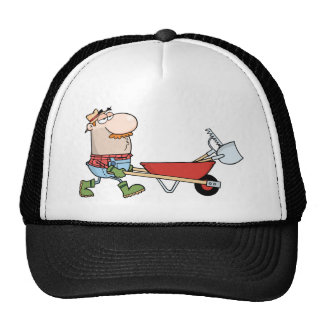Gardener Drives A Barrow With Tools Trucker Hat