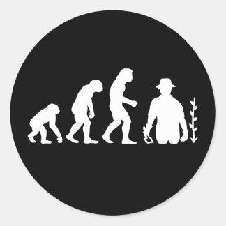 Gardener Evolution Classic Round Sticker