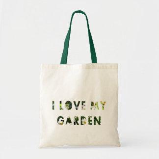 Gardener I Love My Garden Floral Text Tote Bag
