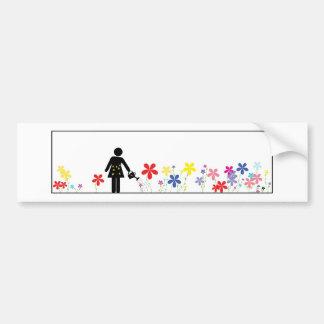 Gardener - I'd Rather be Gardening Car Bumper Sticker