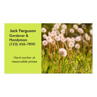 Gardener, Landscaper, Yard Work Business Card