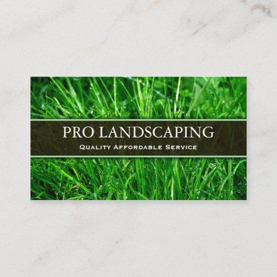 gardener landscaping business card - Landscaping Business Cards